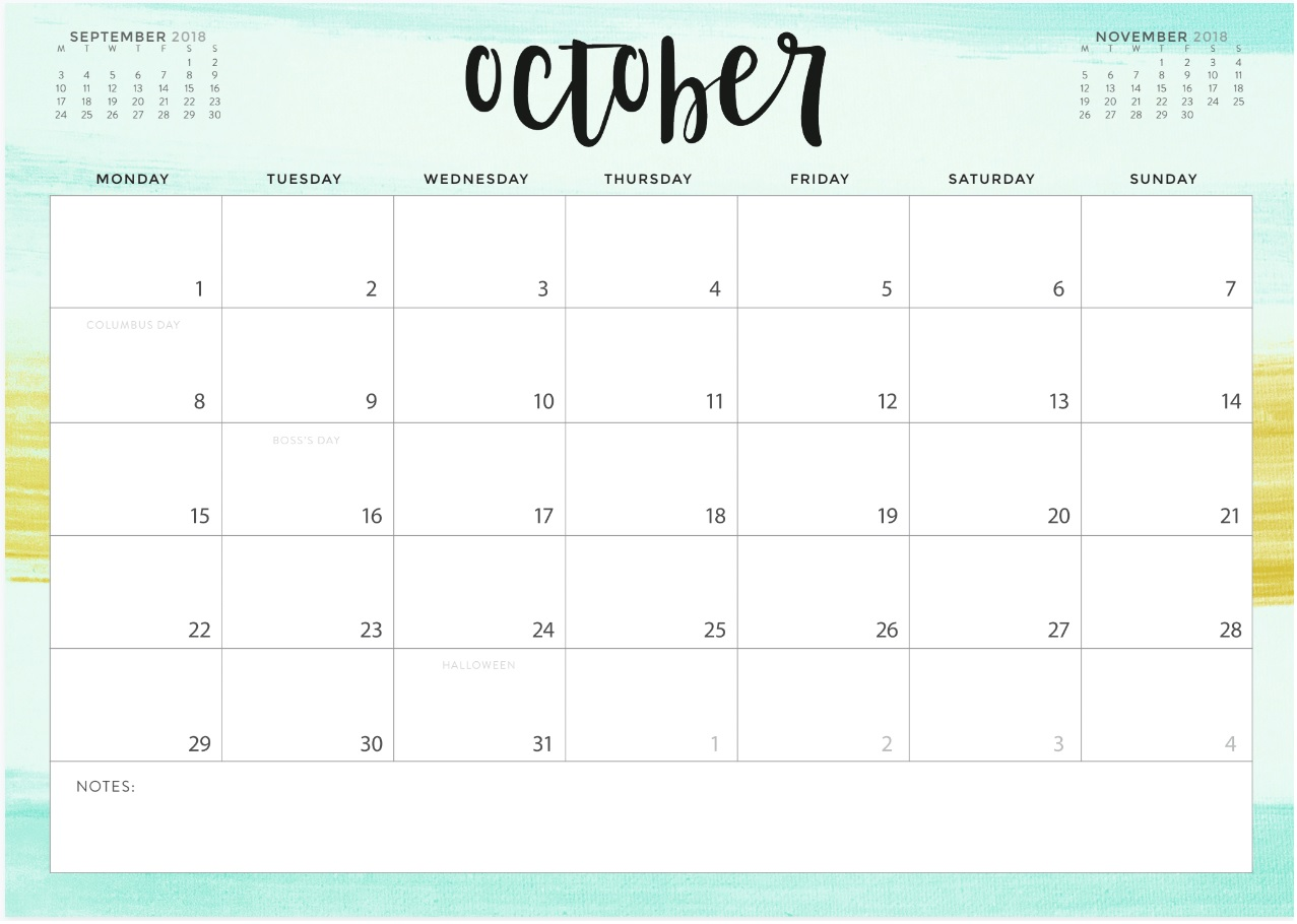 calendrier pastel